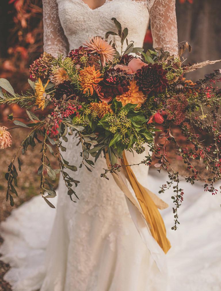 The brides flower bouquet