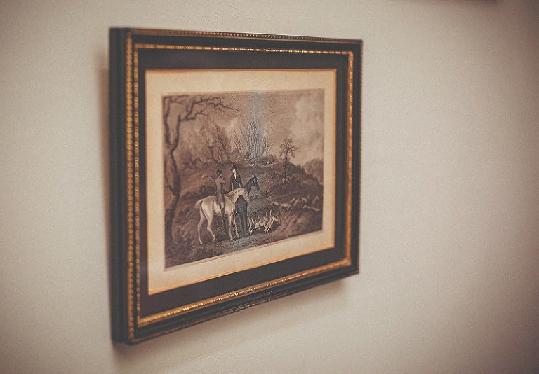 A oil based painting on canvas hanging on the wall at homme house