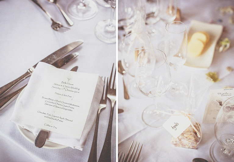 The wedding table at homme house