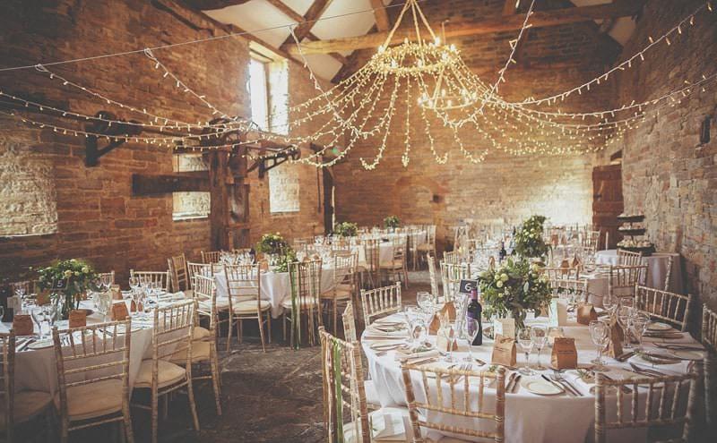 Wedding table and lights