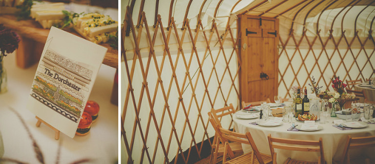 A table in the yurt