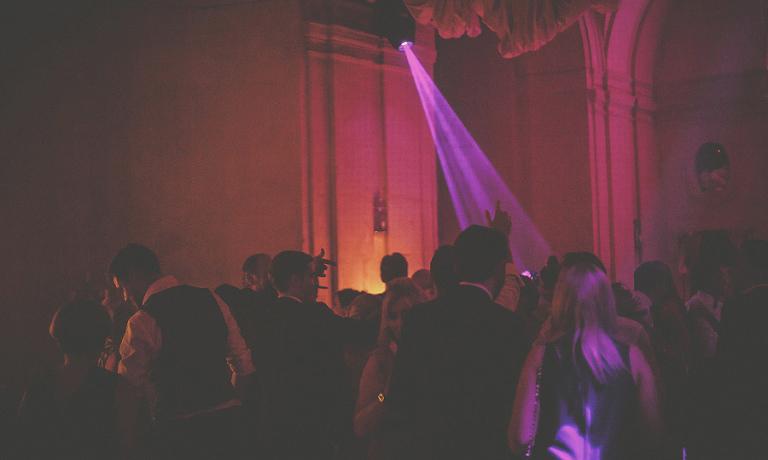 A light hits the dancefloor