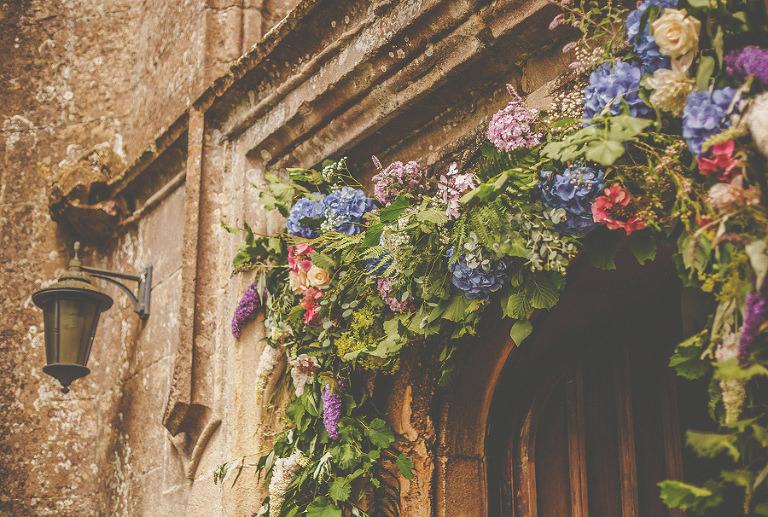 Flowers above the church door