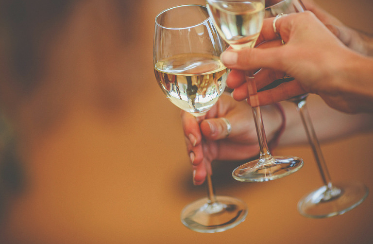A toast with champagne flutes