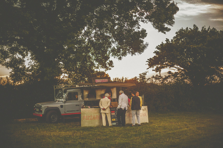 The pizza van at Penny Square Barn