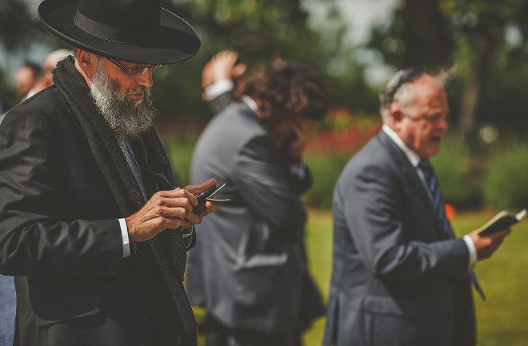 A jewish man reads out a prayer