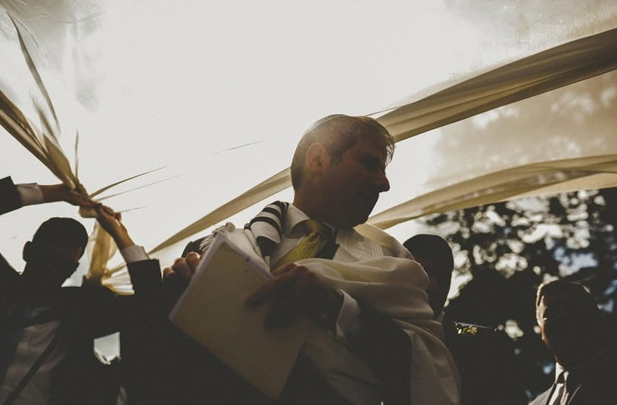 A man waits for the bride and groom