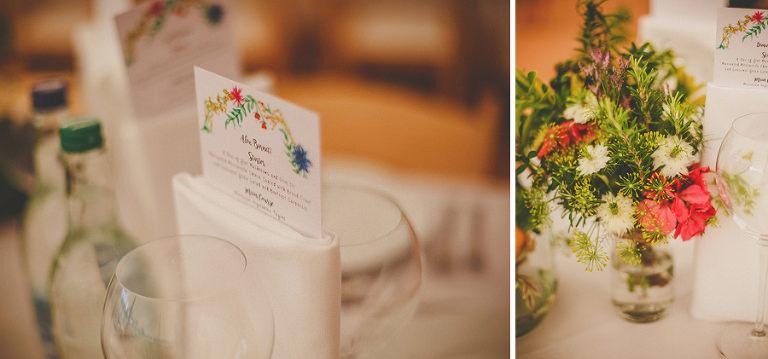 The wedding table at Brook farm