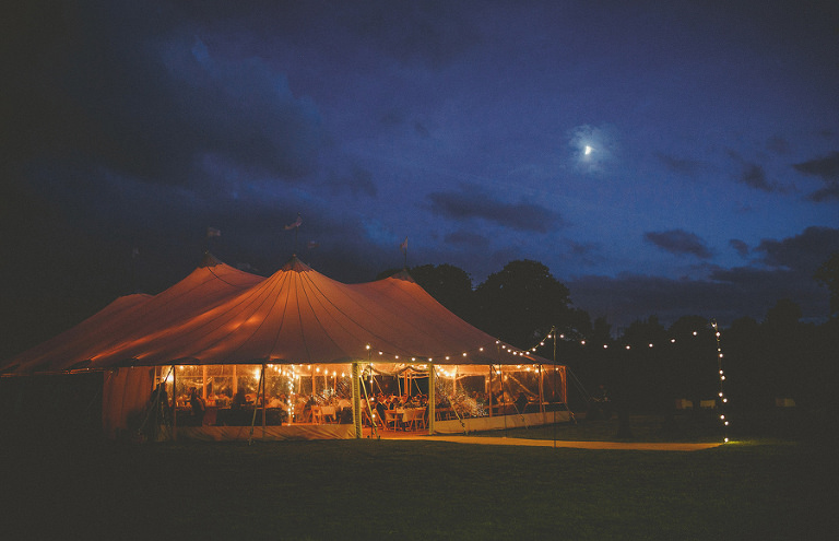 The wedding marquee at Brook farm