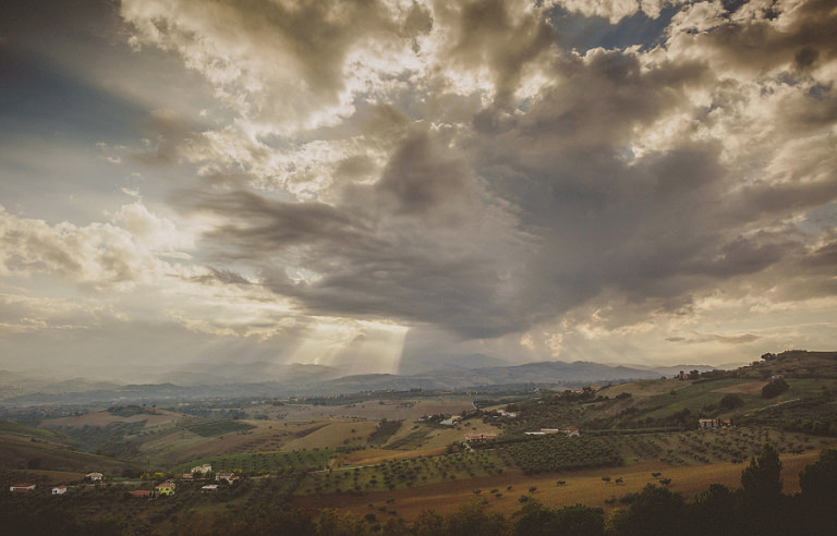 A panoramic view of Volterra, Italy