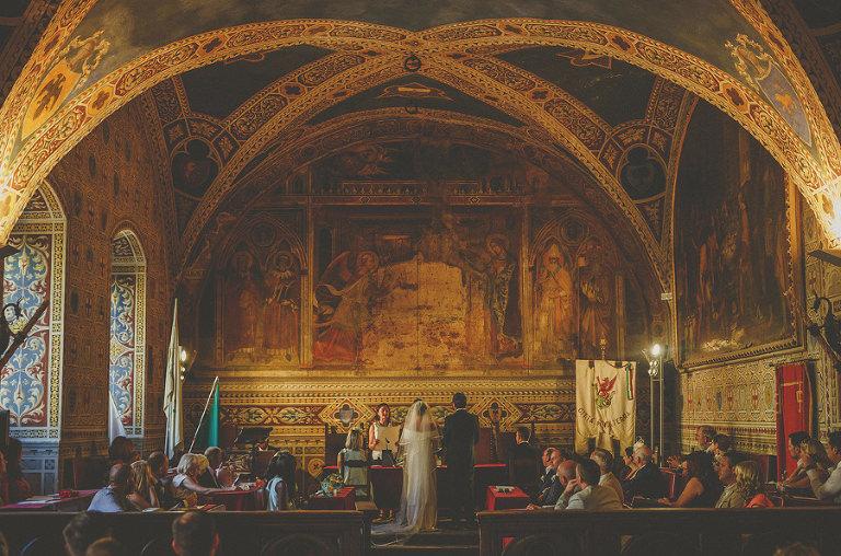 The wedding ceremony at Palazzo dei Priori