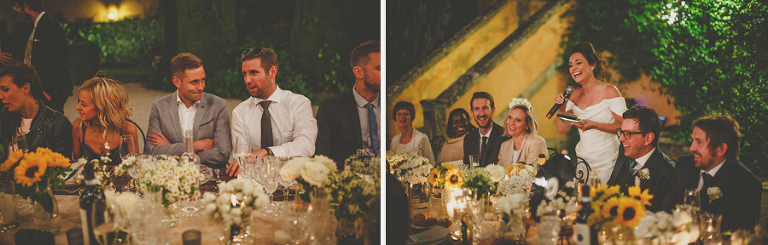 The brides speech