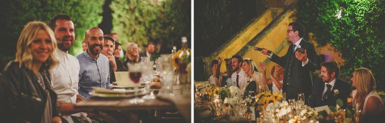 The grooms speech at villa di ulignano