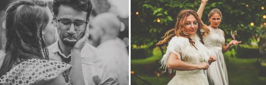 Wedding party dancing at colehayes park
