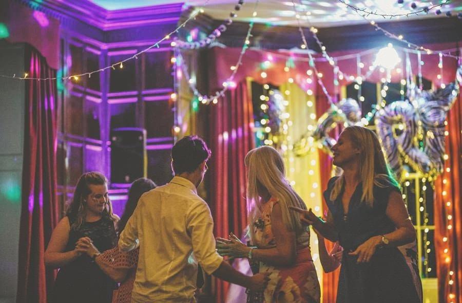People on the dancefloor enjoying the wedding evening