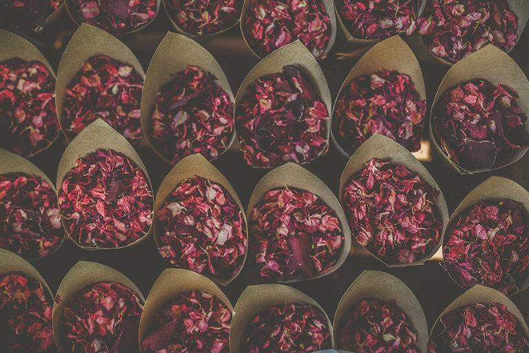 Confetti in paper cups