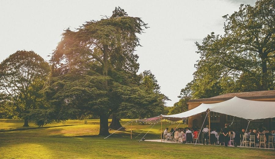 The wedding marquee at the Wilderness Reserve