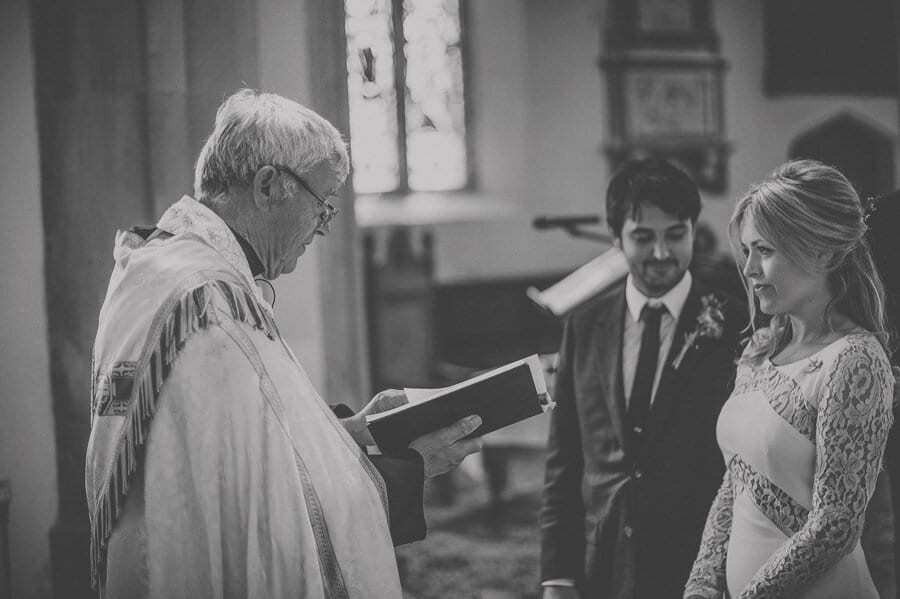 The vicar starts the ceremony