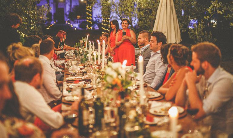 The bridesmaids speech