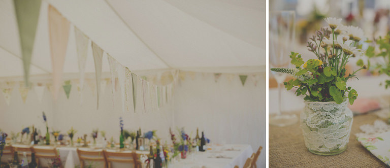 The wedding marquee at Penmaen house, South Wales