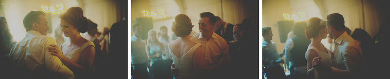 The bride and grooms first dance at Penmaen house, Gower Peninsula