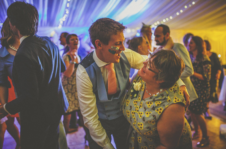 The groom with his aunty on the dancefloor
