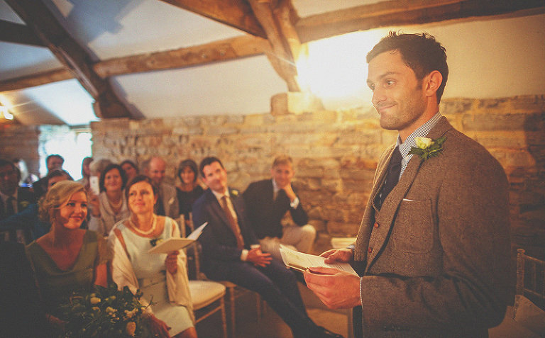 The brides brother delivers his speech