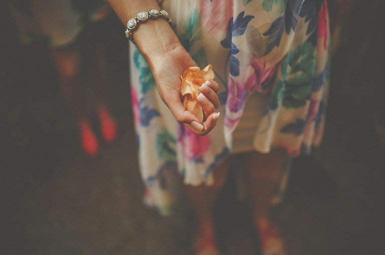Holding confetti