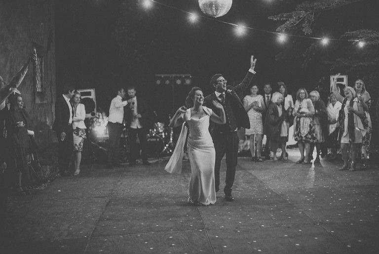 The bride and grooms first dance at Villa di Ulignano