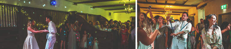 The bride and grooms first dance at Pennard house, Somerset