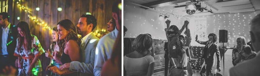 Dancing in the barn at Pennard house, Somerset