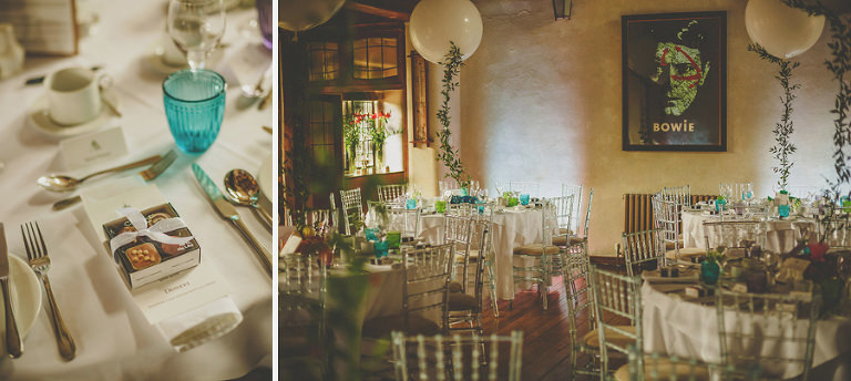 The wedding tables at Voewood, Norfolk