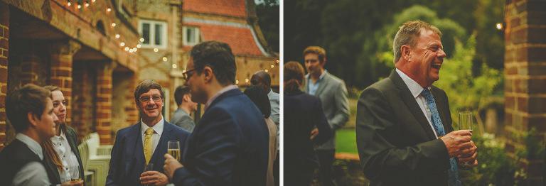 A man talks to the groom