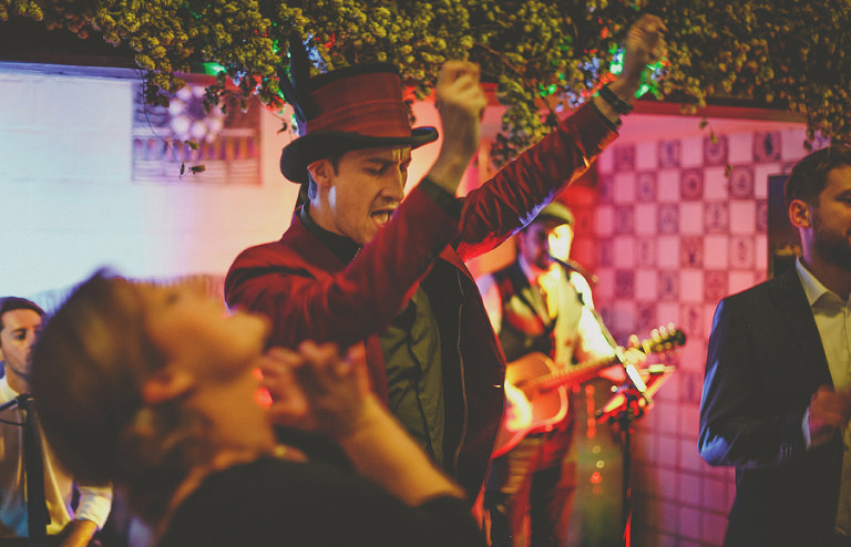 Wedding celebrations on the dancefloor