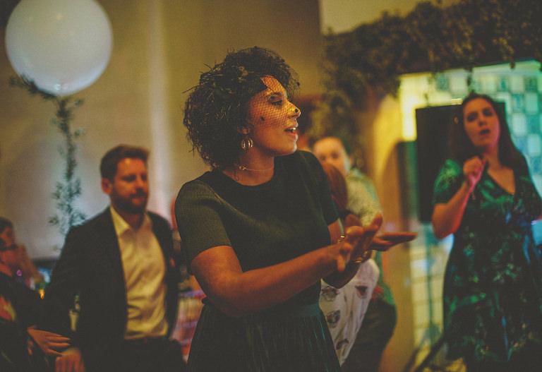 A lady on the dancefloor