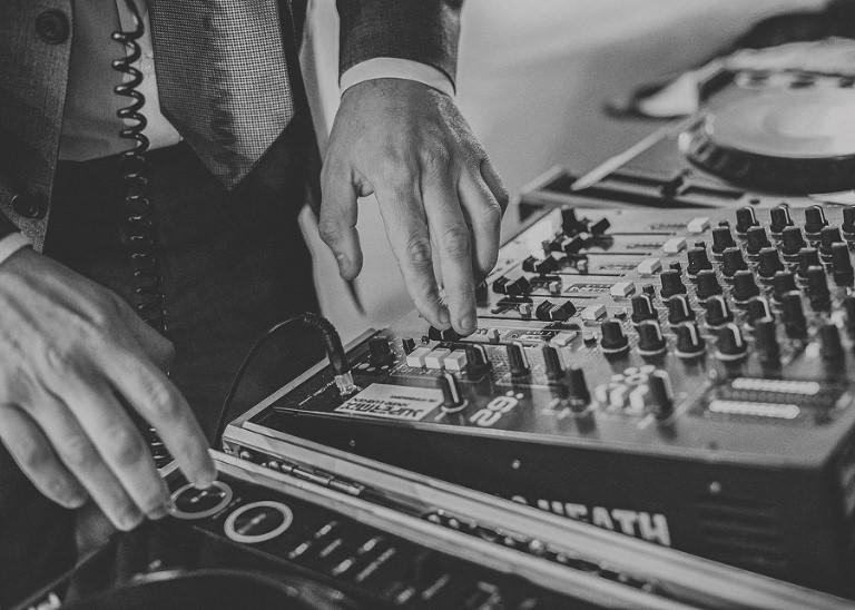 The DJ at Sharpham Park