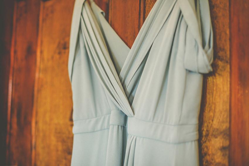 The brides dress at Barley Wood house, Bristol