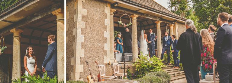 The outdoor ceremony at Barley Wood house, Bristol