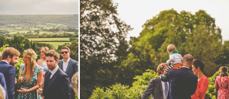 The view of the Bristol countryside from the back lawn at Barley Wood house, Bristol