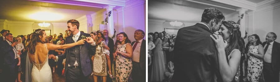 The bride and grooms first dance at Barley Wood house, Bristol