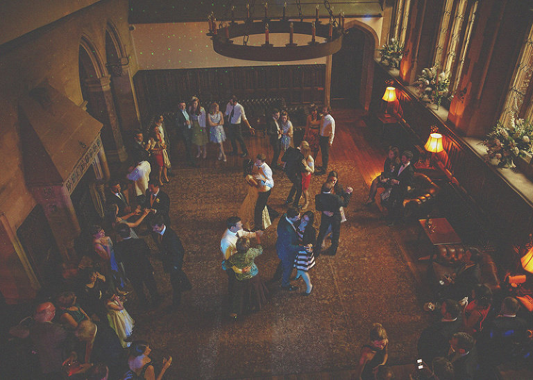 The wedding party on the dancefloor at St. Audries Park