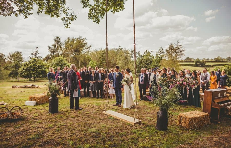 The start of the outdoor ceremony at Mill farm