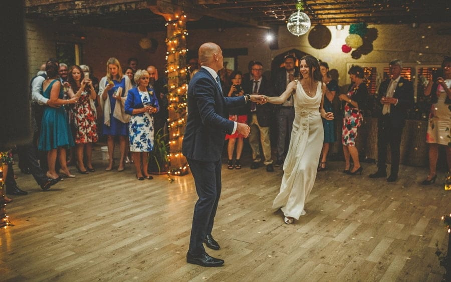The bride and groom's first dance at Abbey House Gardens