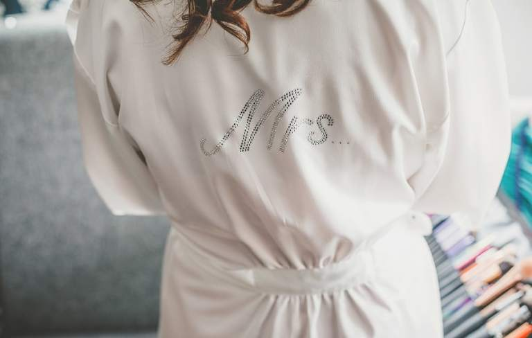The brides nightgown