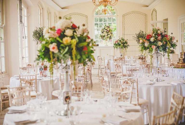 A wedding table at a Clifton wedding venue
