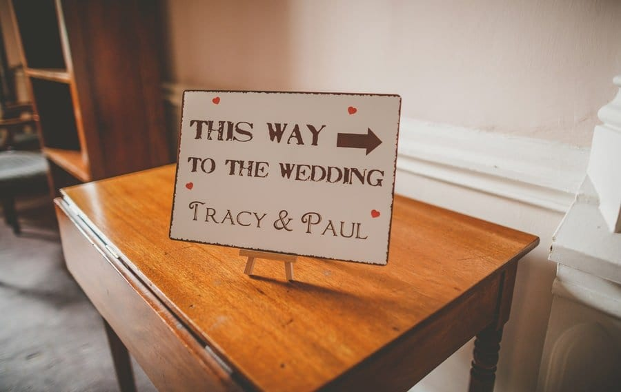 A wedding sign in Goldney Hall