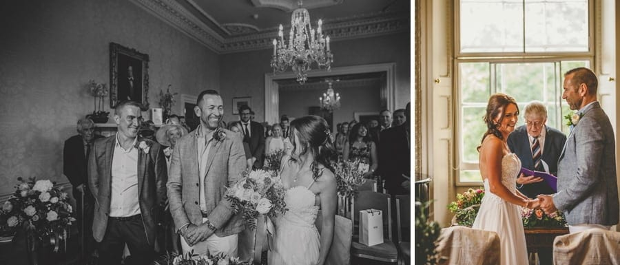 The wedding ceremony at Goldney Hall