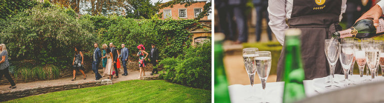 Wedding guests arrive at Goldney Hall in Clifton