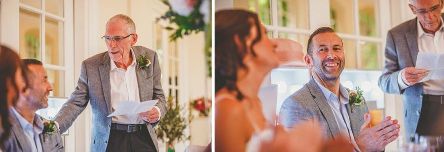 The bride's fathers speech