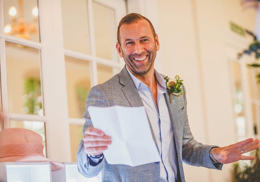 The grooms speech at Goldney Hall wedding venue